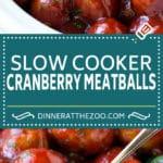 Cranberry Meatballs Recipe | Slow Cooker Meatballs | Slow Cooker Appetizer | Crockpot Meatballs #meatballs #cranberry #appetizer #slowcooker #crockpot #dinneratthezoo