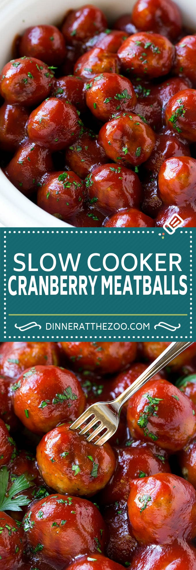 Cranberry Meatballs Recipe | Slow Cooker Meatballs | Slow Cooker Appetizer | Crockpot Meatballs #meatballs #cranberry #appetizer #slowcooker #crockpot #dinneratthezoo
