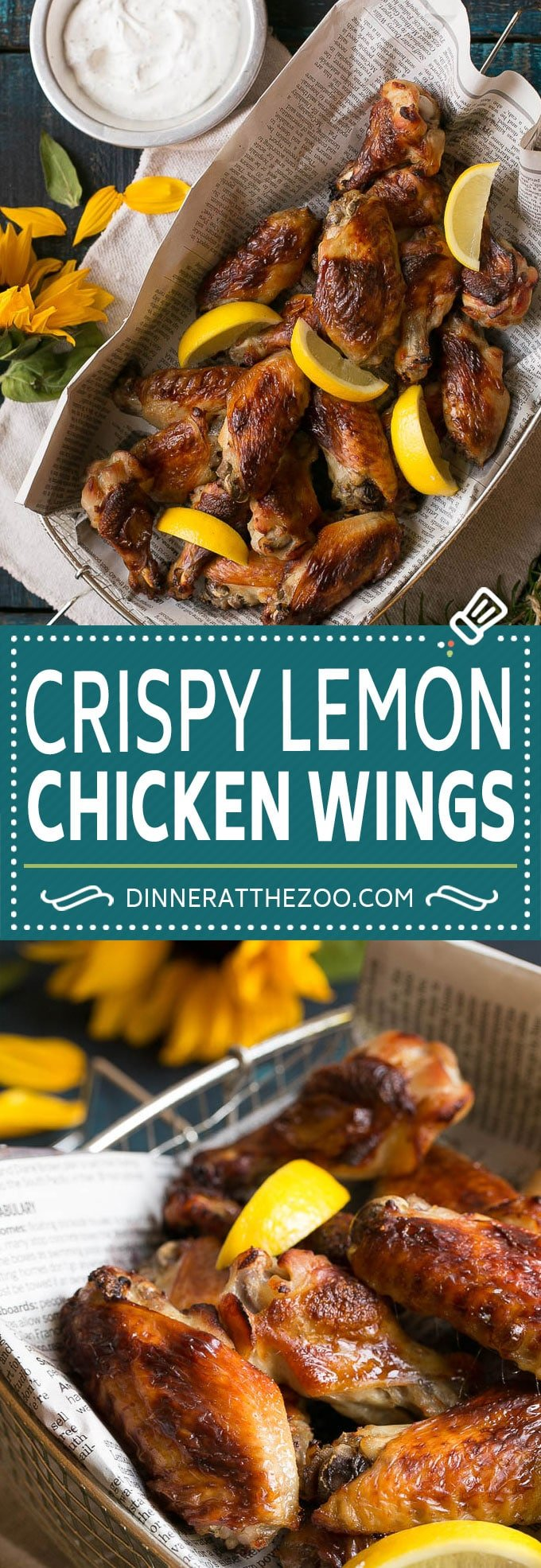 Lemon Chicken Wings Recipe   Baked Chicken Wings #chicken #chickenwings #lemon #appetizer #dinner #dinneratthezoo