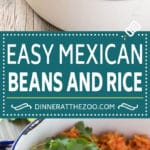 Mexican Beans and Rice Recipe | Pinto Beans | Mexican Rice #rice #beans #dinner #dinneratthezoo