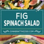 Fig Salad | Spinach Salad #salad #figs #dinner #spinach #dinneratthezoo