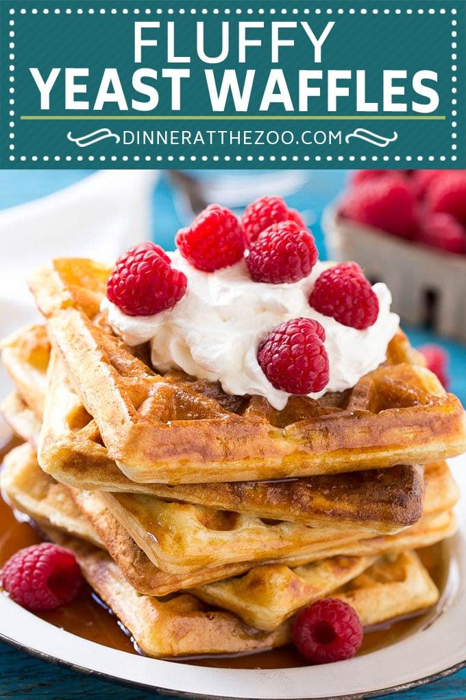 Yeast Waffles Recipe | Homemade Waffles #waffles #breakfast #brunch #dinneratthezoo