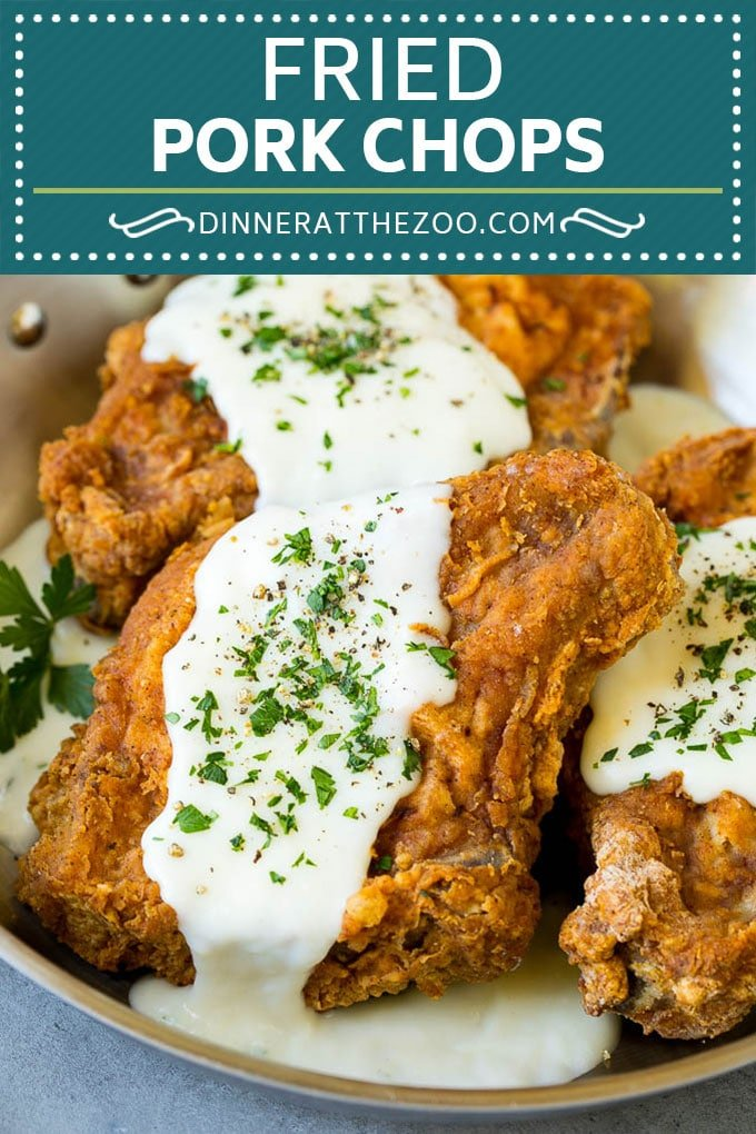 Fried Pork Chops Recipe | Pork Chop Recipe #porkchops #pork #dinner #dinneratthezoo #comfortfood