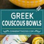 Greek Couscous Bowls #couscous #lunch #dinneratthezoo