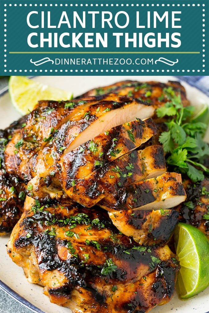 Grilled Chicken Thighs Recipe | Marinated Chicken Thighs #chicken #grilling #marinade #dinner #cilantro #lime #dinneratthezoo