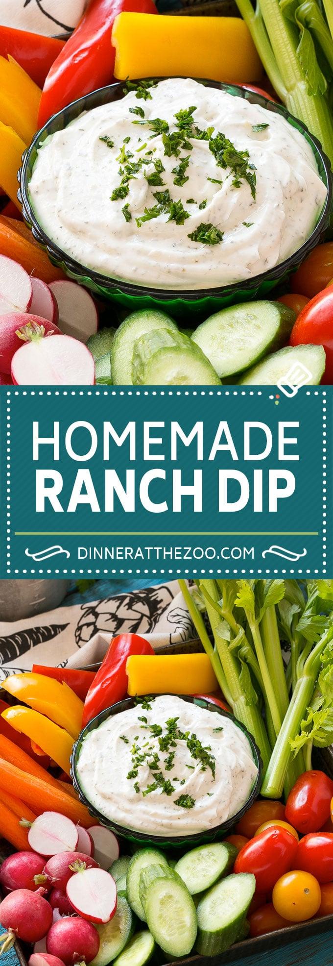 Ranch Dip Recipe | Veggie Dip #ranch #dip #appetizer #snack #dinneratthezoo