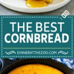 Honey Cornbread Recipe | Buttermilk Cornbread | Easy Cornbread | Homemade Cornbread #corn #cornbread #bread #sidedish #dinneratthezoo