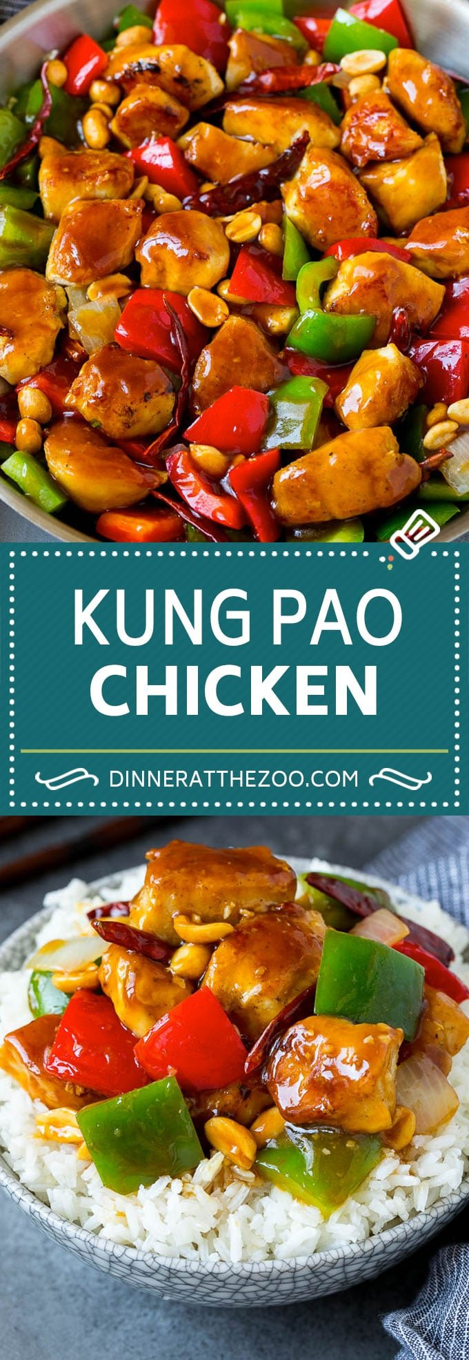 Kung Pao Chicken Recipe | Chicken Stir Fry #chicken #stirfry #chinesefood #peanuts #peppers #dinner #dinneratthezoo