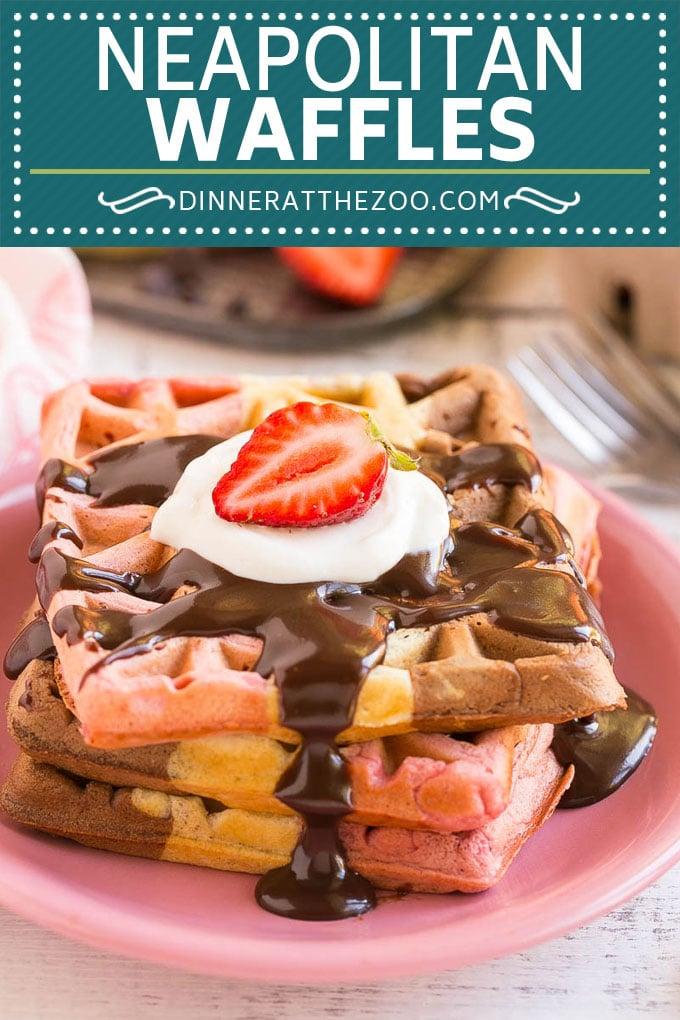 Neapolitan Waffles #waffles #breakfast #dinneratthezoo