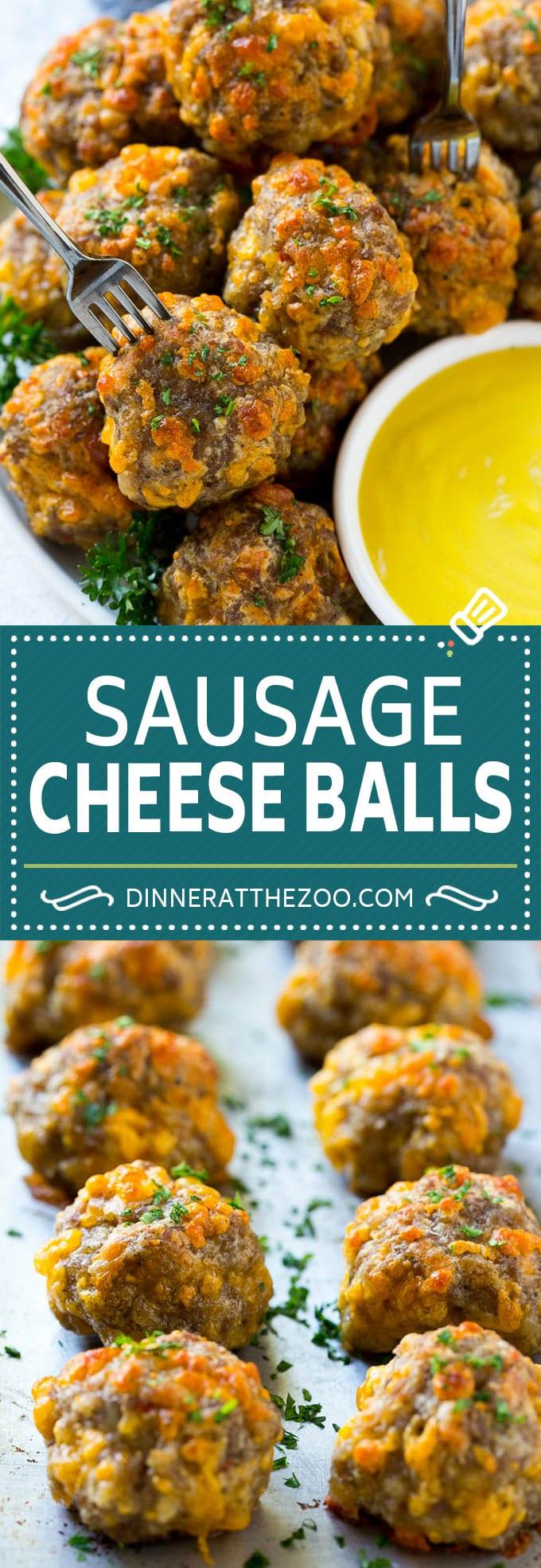Sausage Cheese Balls Recipe | Sausage Balls Recipe | Bisquick Sausage Balls #sausage #cheese #appetizer #dinneratthezoo