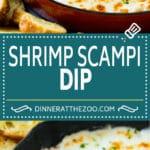 Shrimp Scampi Dip Recipe | Hot Shrimp Dip | Shrimp Dip Recipe #shrimp #dip #appetizer #cheese #seafood #dinneratthezoo