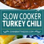 Slow Cooker Turkey Chili Recipe | Crockpot Chili | Turkey Chili | Chili With Beans Recipe | Healthy Chili Recipe #turkey #chili #beans #soup #slowcooker #crockpot #dinneratthezoo