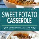Sweet Potato Casserole Recipe | Sweet Potato Casserole with Marshmallows #sweetpotato #casserole #thanksgiving #dinner #dinneratthezoo #sidedish #fall