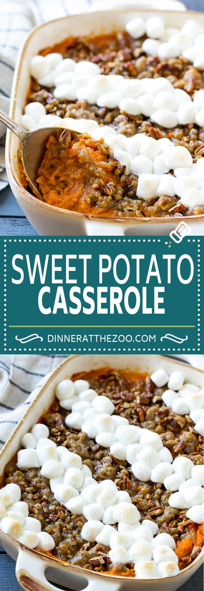 Sweet Potato Casserole Recipe | Sweet Potato Casserole with Marshmallows #sweetpotato #casserole #thanksgiving #dinner #dinneratthezoo #sidedish #fall