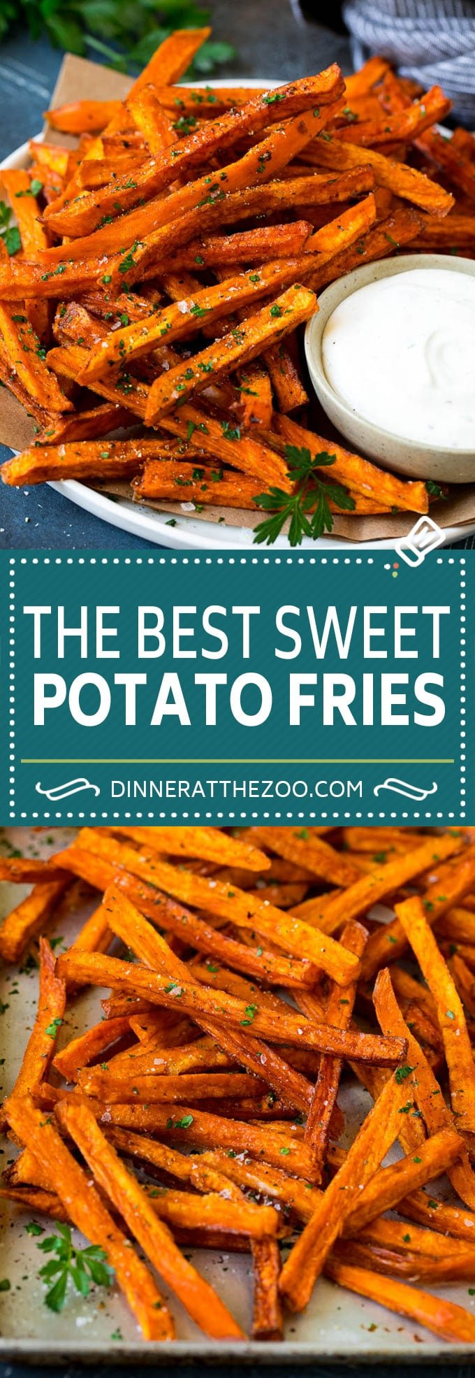 Sweet Potato Fries Recipe | Baked Sweet Potato Fries | Homemade Fries #fries #sweetpotato #sidedish #frenchfries #dinner #dinneratthezoo
