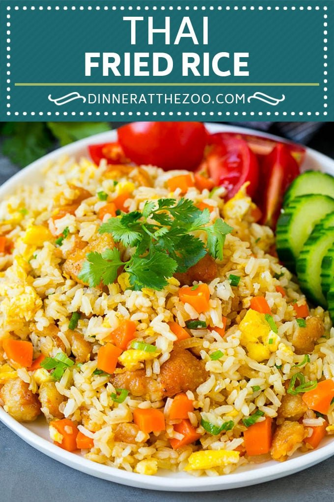 Thai Fried Rice Recipe | Chicken Fried Rice #rice #chicken #friedrice #thaifood #stirfry #dinner #dinneratthezoo