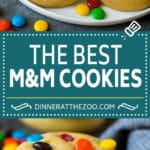 M&M Cookies Recipe #cookies #chocolate #baking #dessert #sweets #dinneratthezoo