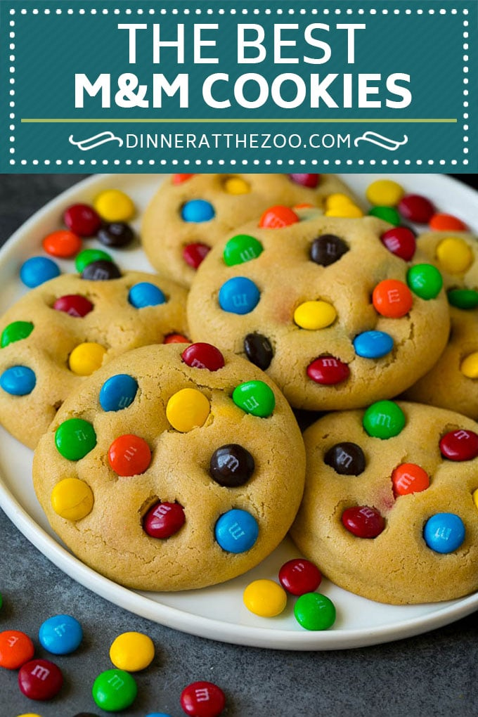 M&M Cookies Recipe #cookies #chocolate #baking #dessert #sweets #dinneratthezoo