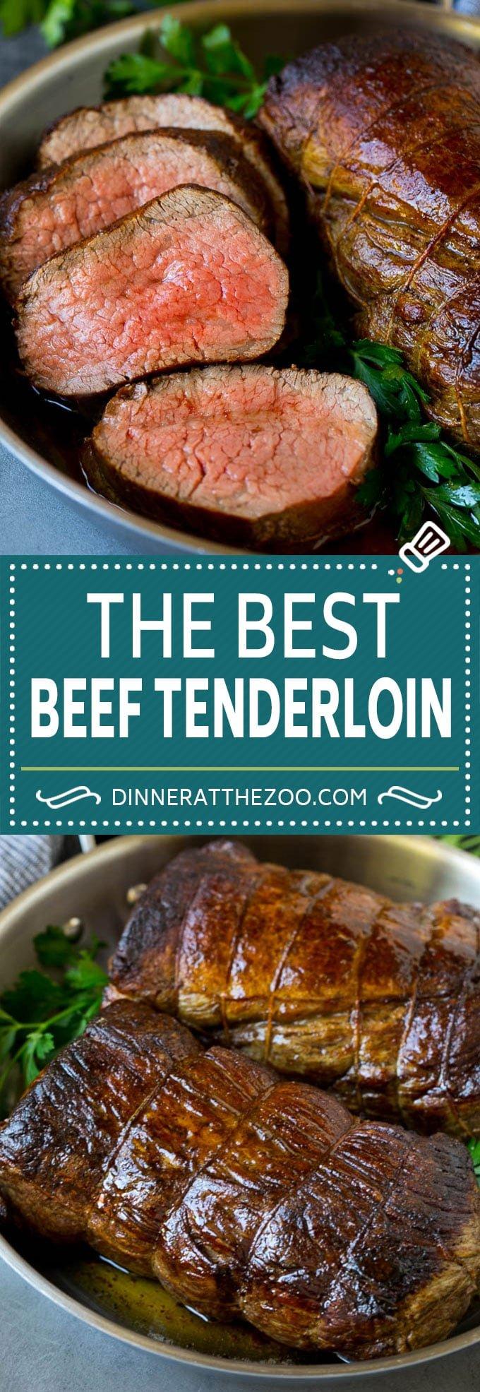 Beef Tenderloin with Garlic Butter #beef #steak #dinner #dinneratthezoo