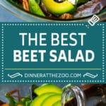Beet Salad Recipe #beets #avocado #feta #salad #dinner #dinneratthezoo