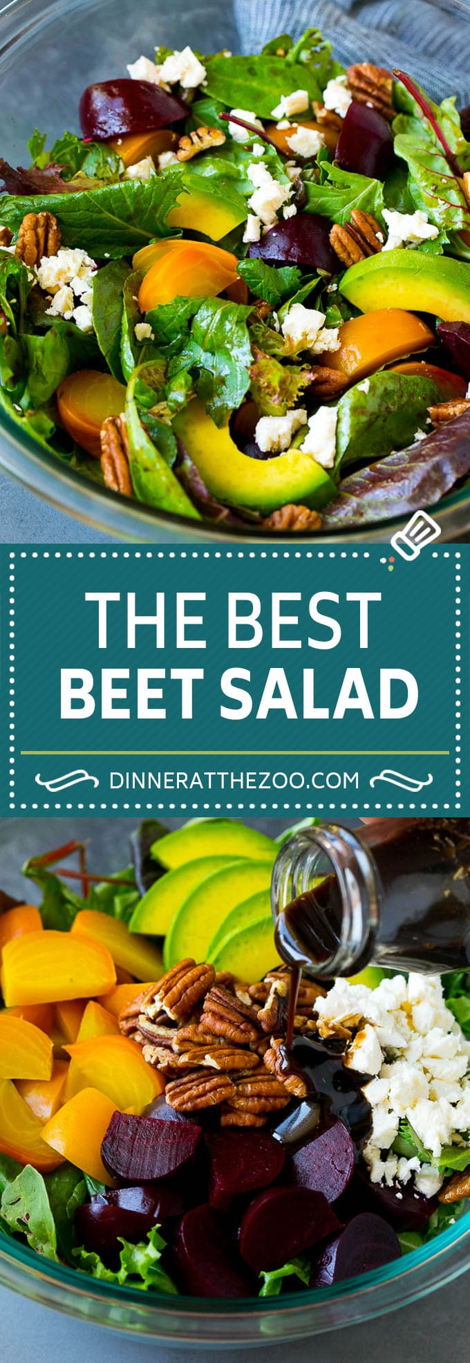 Beet Salad Recipe #beets #avocado #feta #salad #dinner #dinneratthezoo
