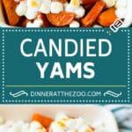Candied Yams Recipe | Candied Sweet Potatoes #yams #sweetpotatoes #marshmallows #casserole #sidedish #fall #thanksgiving #dinneratthezoo