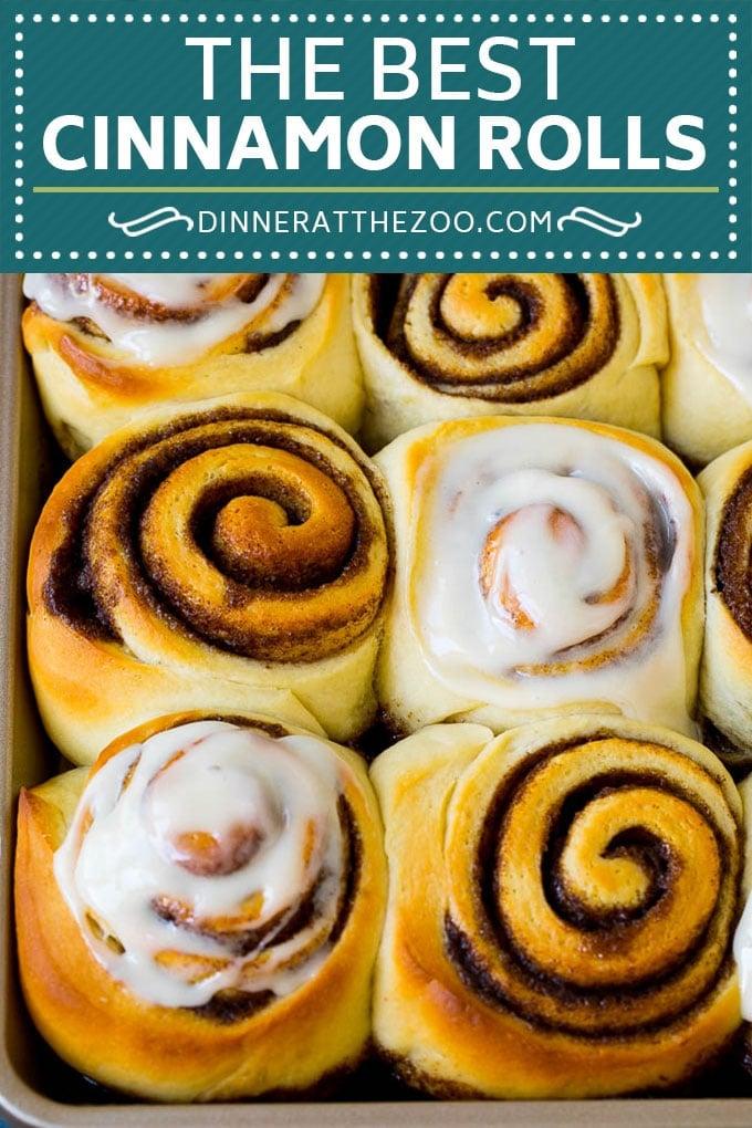 Cinnamon Rolls Recipe | Cinnamon Buns #cinnamon #rolls #pastry #breakfast #brunch #sweets #dinneratthezoo #baking #bread