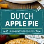 Dutch Apple Pie Recipe   Homemade Apple Pie #pie #apple #dessert #baking #fall #dinneratthezoo
