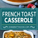French Toast Casserole Recipe | French Toast Bake #frenchtoast #casserole #breakfast #brunch #dinneratthezoo #bread
