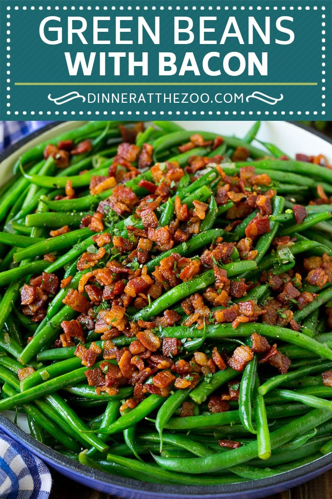 Green Beans with Bacon Recipe | Bacon Green Beans #bacon #greenbeans #sidedish #thanksgiving #veggies #dinner #dinneratthezoo