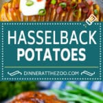 Hasselback Potatoes Recipe #potatoes #bacon #sidedish #cheese #dinner #dinneratthezoo