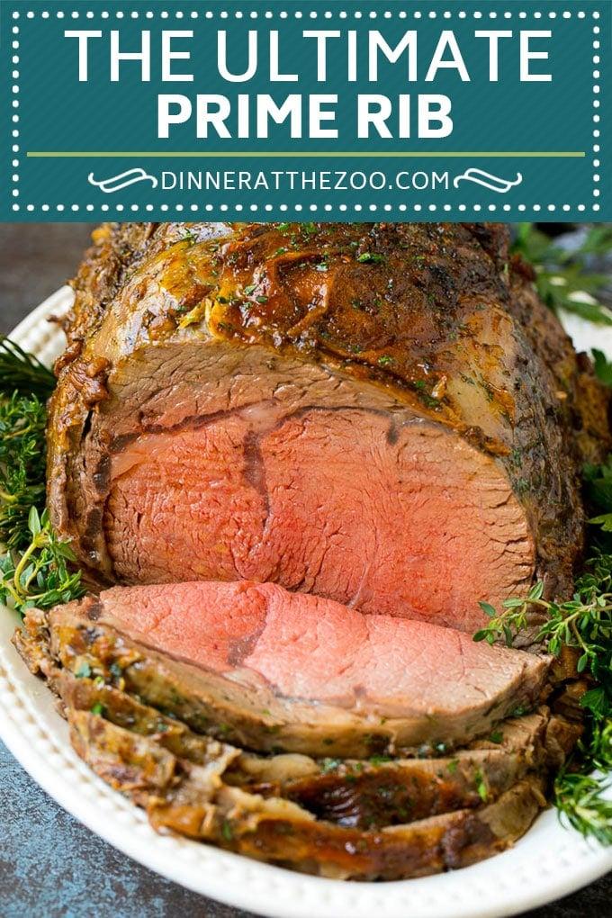 Prime Rib Recipe #primerib #beef #roast #dinner #thanksgiving #christmas #keto #lowcarb #dinneratthezoo