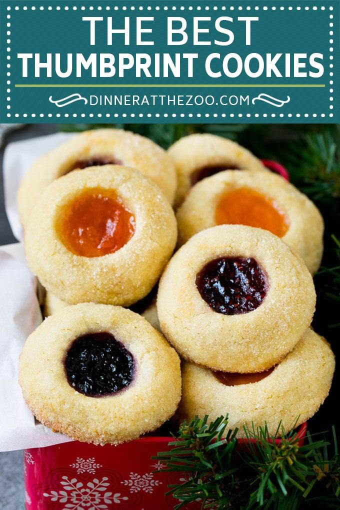 Thumbprint Cookies | Sugar Cookies #cookies #baking #christmas #dessert #dinneratthezoo