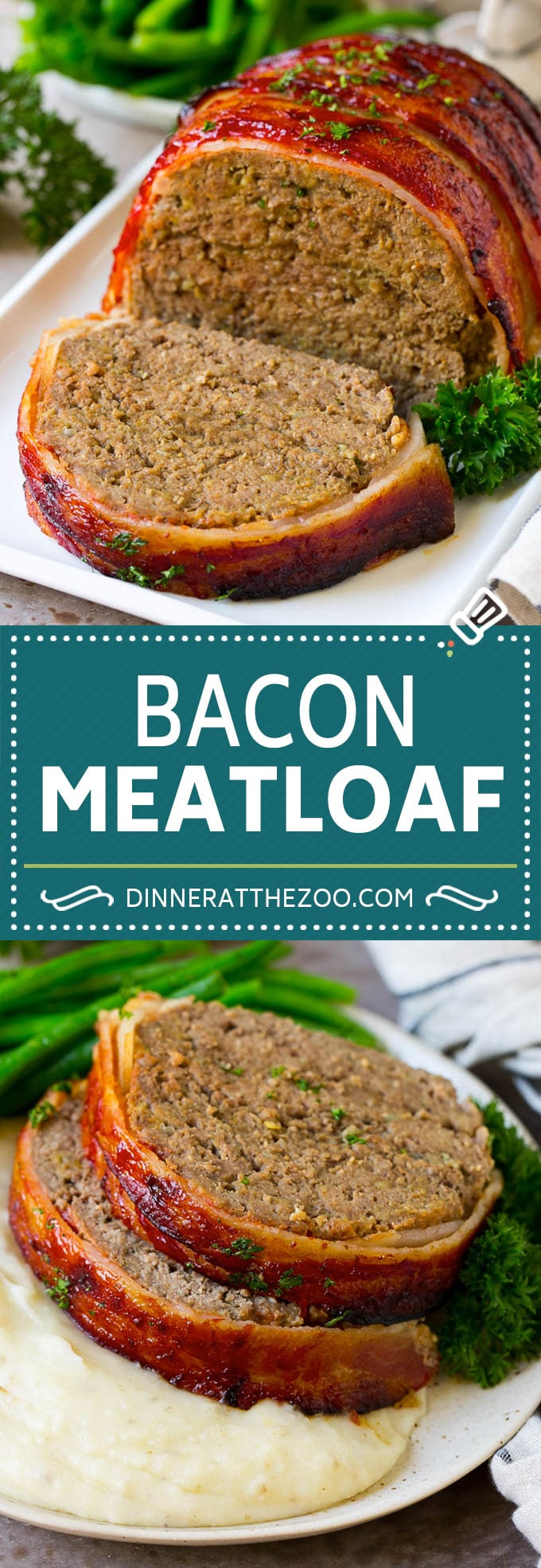 Bacon Wrapped Meatloaf Recipe | Beef Meatloaf #meatloaf #beef #groundbeef #bacon #dinner #dinneratthezoo