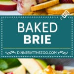 Baked Brie Recipe | Pastry Wrapped Brie #brie #cheese #appetizer #pecans #raspberries #dinneratthezoo