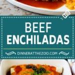 Beef Enchiladas Recipe #beef #groundbeef #mexicanfood #enchiladas #cheese #dinner #dinneratthezoo