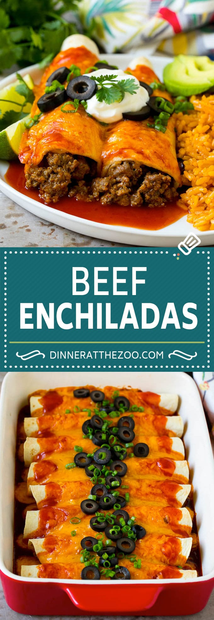 Beef Enchiladas Recipe #beef #groundbeef #mexicanfood #enchiladas #cheese #dinner #dinneratthezoo