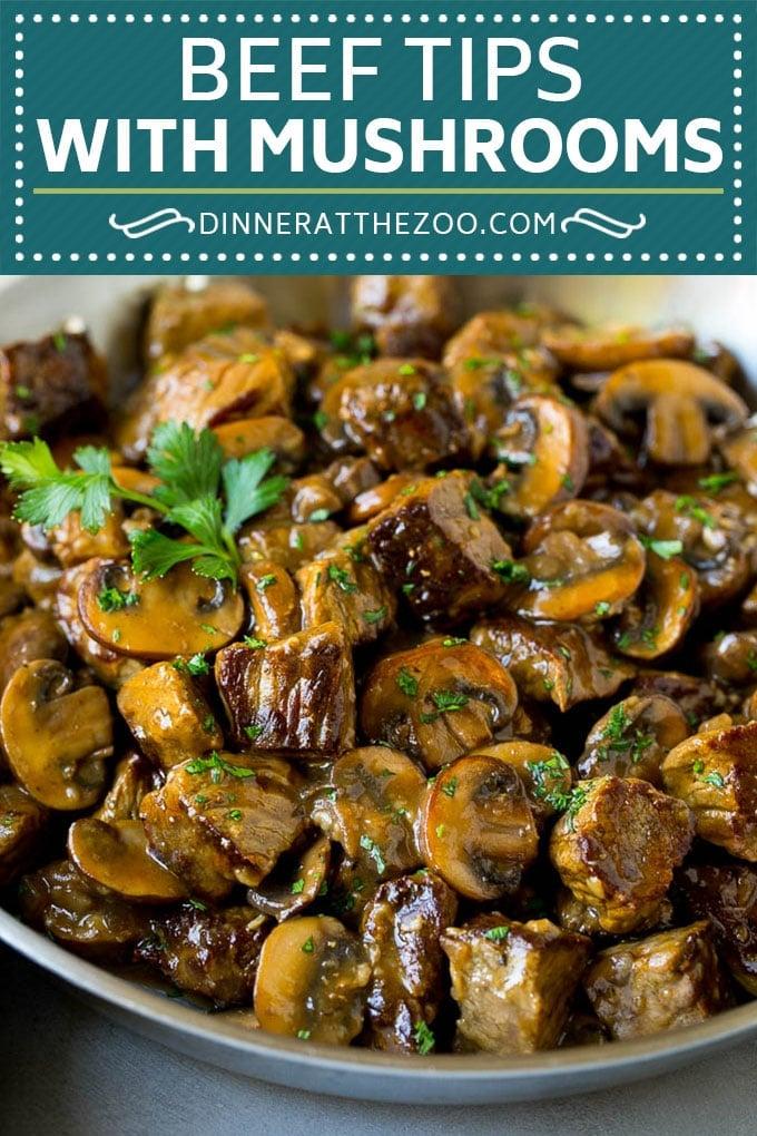 Beef Tips with Mushroom Gravy Recipe | Steak Tips #beef #steak #mushrooms #gravy #comfortfood #dinner #dinneratthezoo