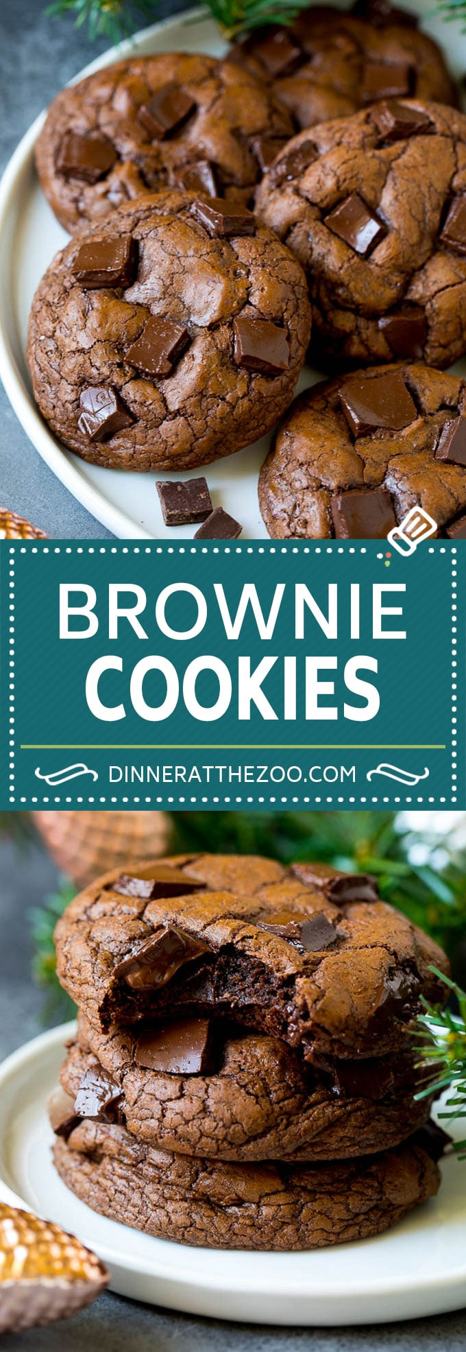 Brownie Cookies Recipe   Chocolate Cookies #cookies #brownies #chocolate #dessert #baking #dinneratthezoo