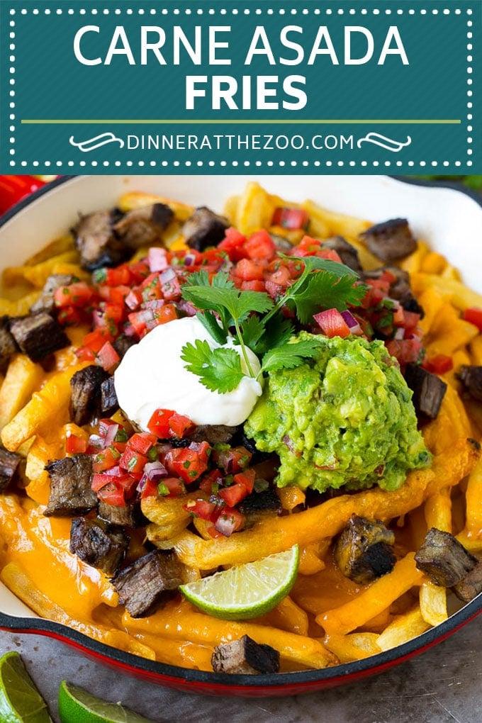 Carne Asada Fries Recipe | Steak Fries #fries #frenchfries #steak #salsa #avocado #cheese #dinner #appetizer #dinneratthezoo