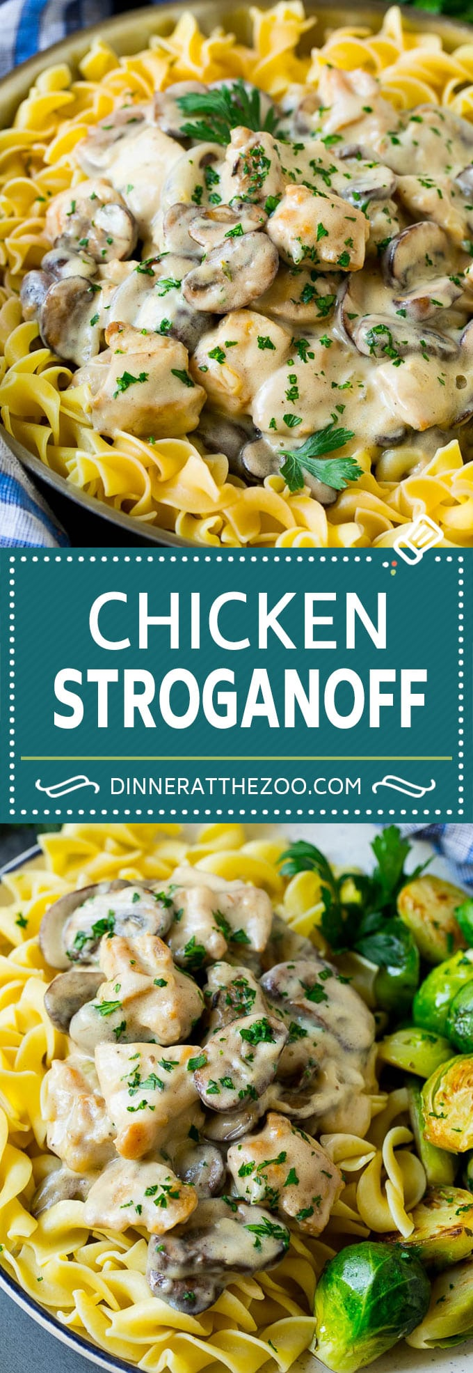 Chicken Stroganoff Recipe | Chicken and Mushrooms #chicken #mushrooms #stroganoff #dinner #dinneratthezoo