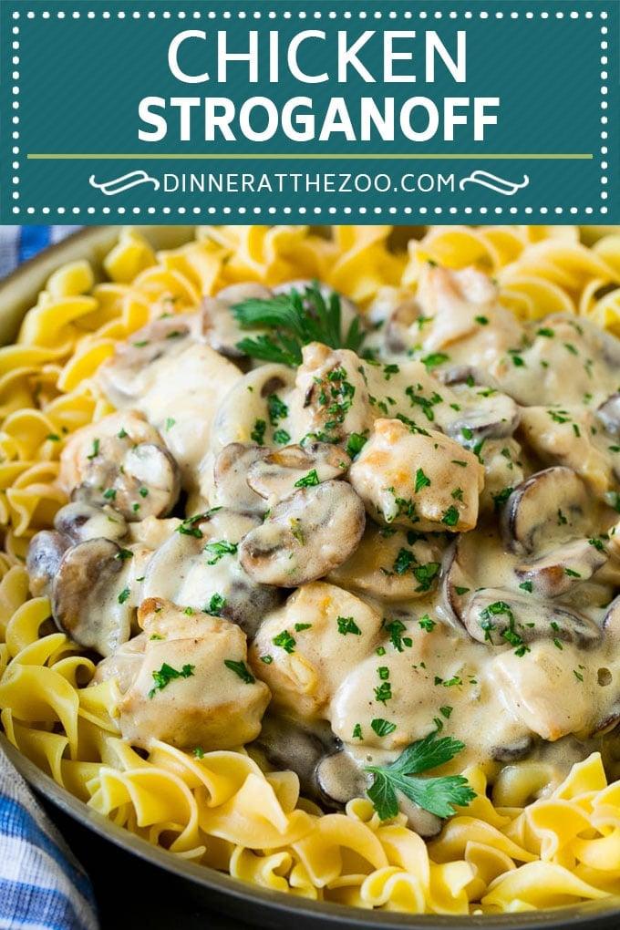Chicken Stroganoff Recipe   Chicken and Mushrooms #chicken #mushrooms #stroganoff #dinner #dinneratthezoo