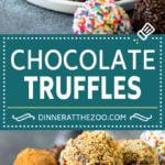 Chocolate Truffles Recipe | Homemade Candy #candy #truffles #chocolate #dessert #sprinkles #dinneratthezoo