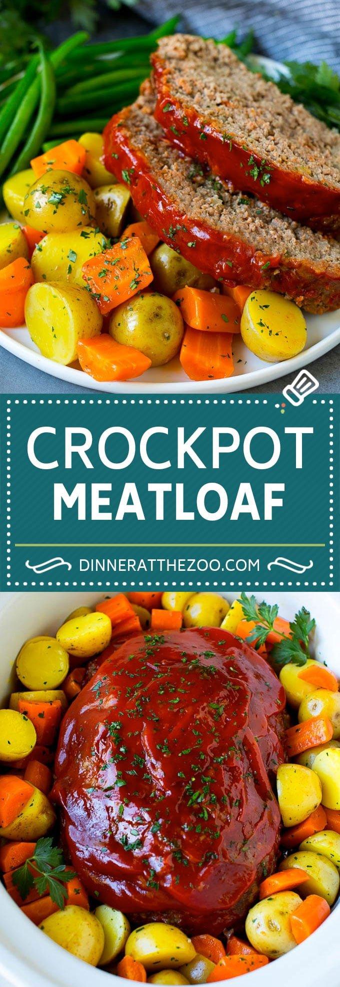 Crockpot Meatloaf Recipe | Slow Cooker Meatloaf #meatloaf #beef #slowcooker #crockpot #dinner #dinneratthezoo