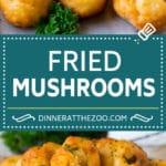 Fried Mushrooms Recipe #mushrooms #appetizer #snack #dinneratthezoo