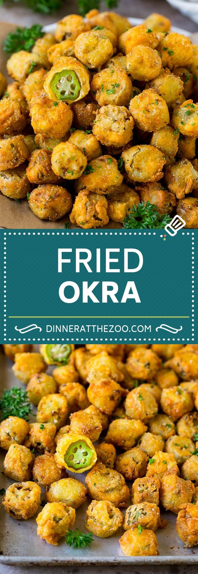 Fried Okra Recipe #okra #appetizer #sidedish #dinneratthezoo