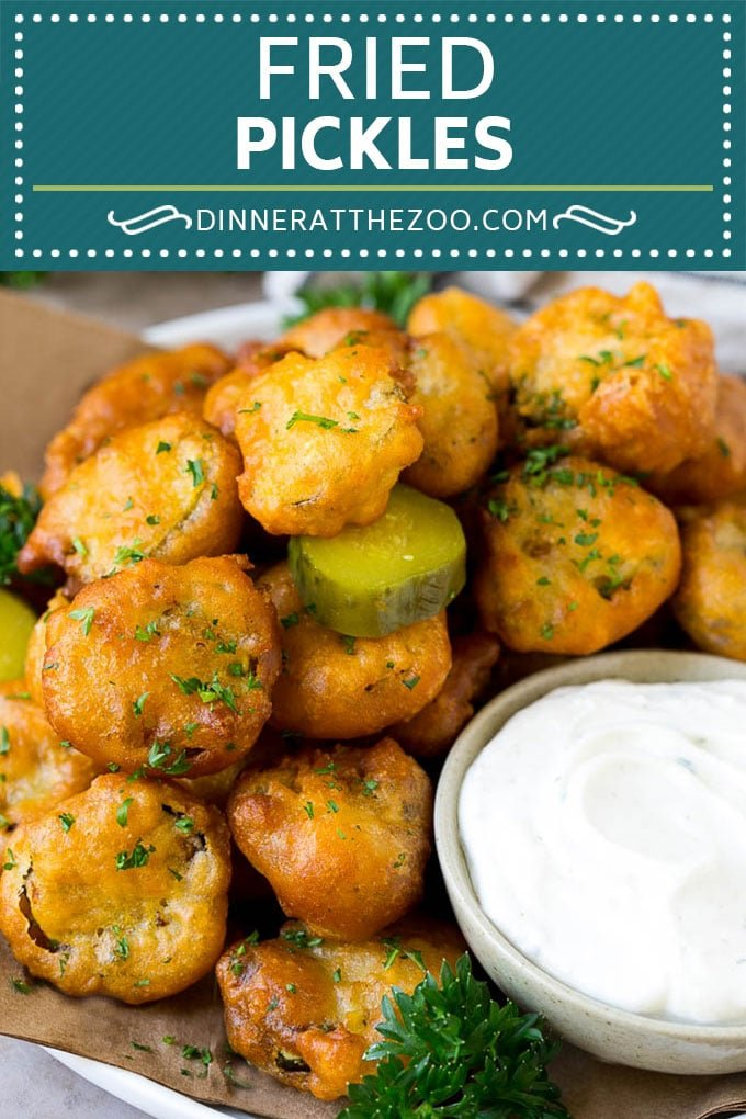 Fried Pickles Recipe #pickles #appetizer #snack #dinneratthezoo