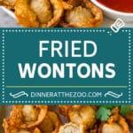 Fried Wonton Recipe #chinesefood #pork #appetizer #wontons #dinneratthezoo