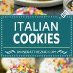 Italian Cookies Recipe | Almond Cookies #cookies #italianfood #frosting #sprinkles #baking #christmas #dinneratthezoo