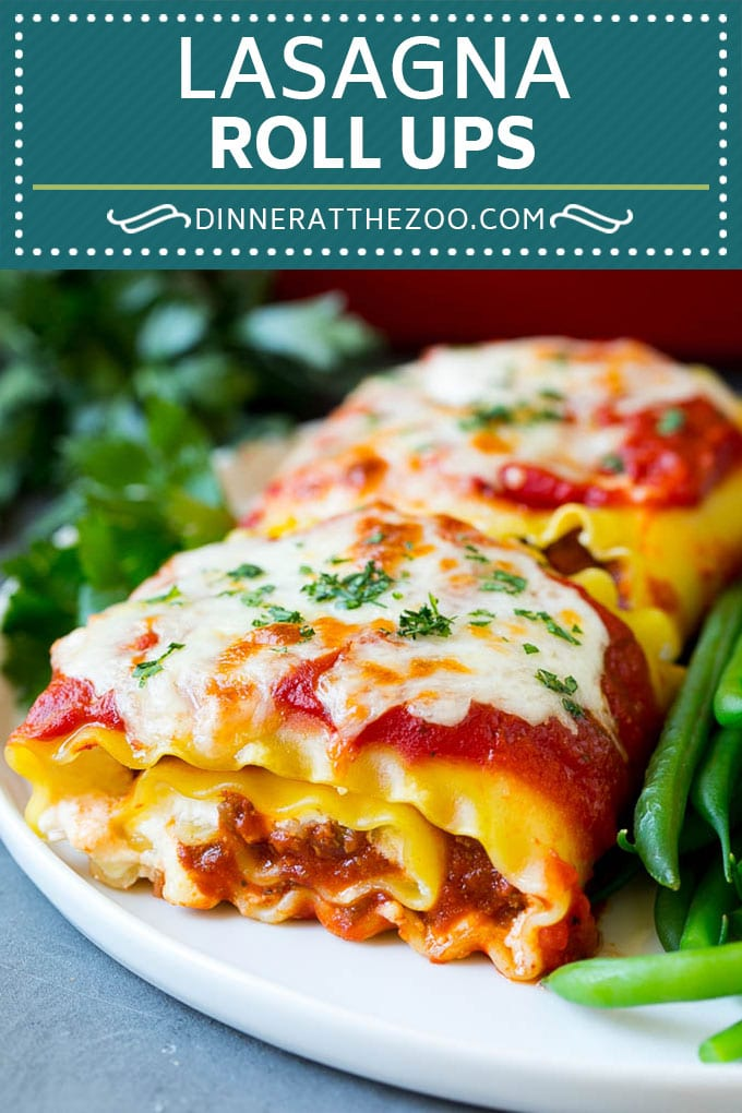 Lasagna Roll Ups Recipe | Lasagna Rolls #lasagna #pasta #beef #cheese #dinner #dinneratthezoo